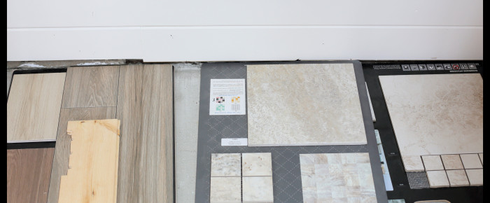 Floor Tile and a Quilt